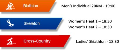 Sochi Olympics 2014 - 13 Feb Schedule