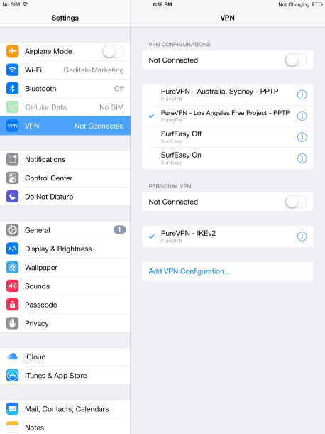 How to Setup VPN on iPad Air 10