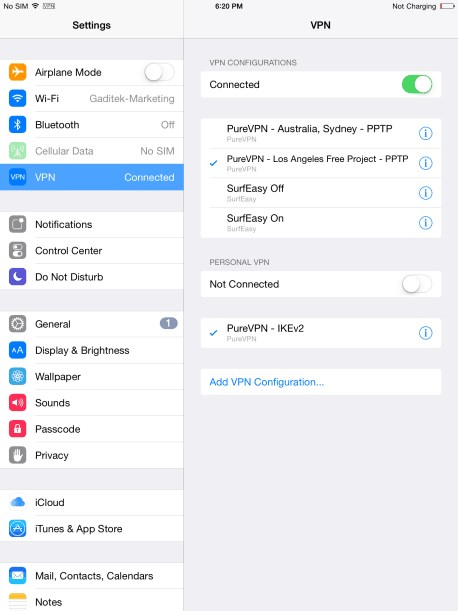 How to Setup VPN on iPad Air 12