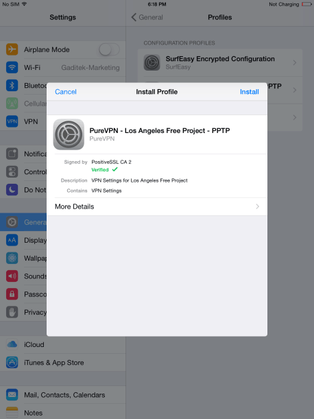 How to Setup VPN on iPad Air 13