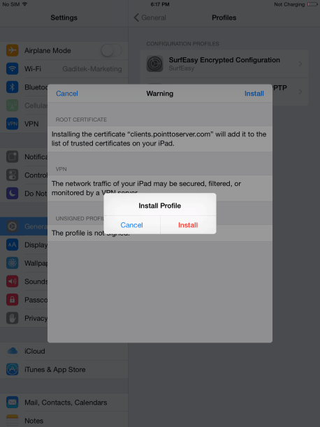 How to Setup VPN on iPad Air 6