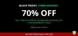 A Black Friday to Remember – Save $120 and Win $1000 at PureVPN!