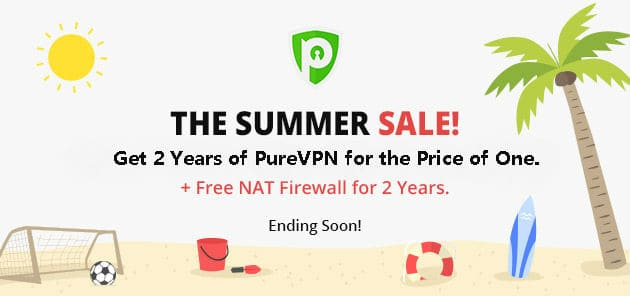 Save $180 with the Hottest Summer Offer Ever by PureVPN!