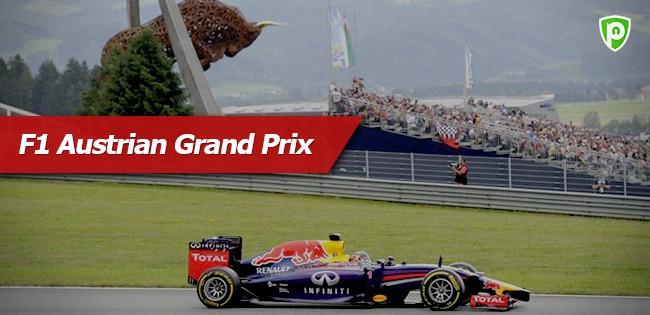 F1 Austrian Grand Prix live streaming