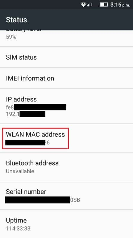 Find the Wi-Fi/WLAN MAC Address