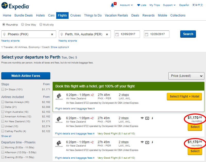 find cheap flights anywhere