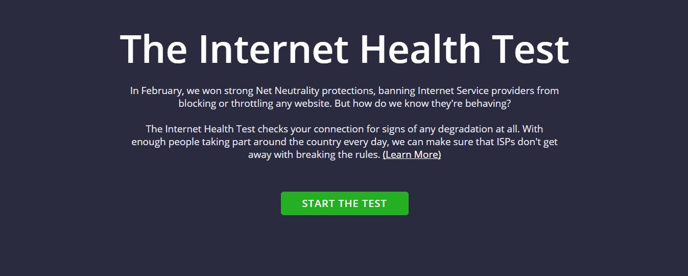 Internet Health Test