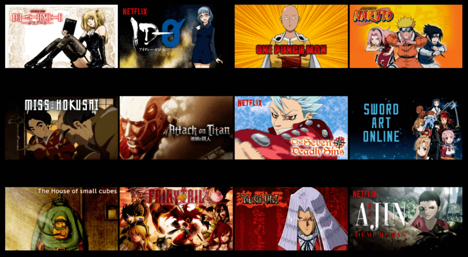 Watch Anime Online Netflix