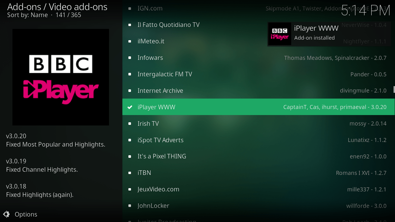BBC iPlayer on Kodi - 8