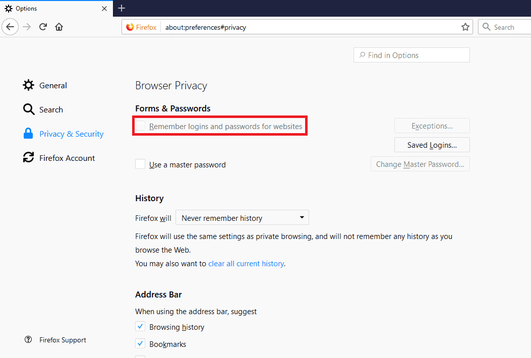 How to secure Firefox