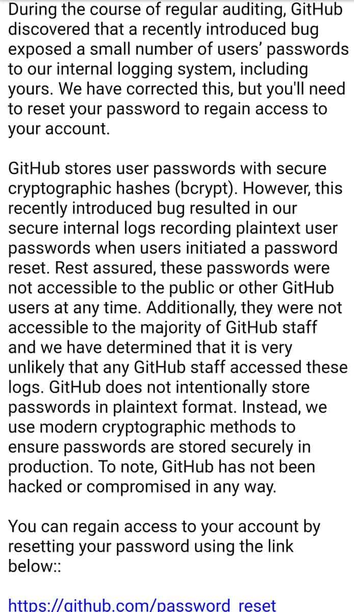 GitHub bug
