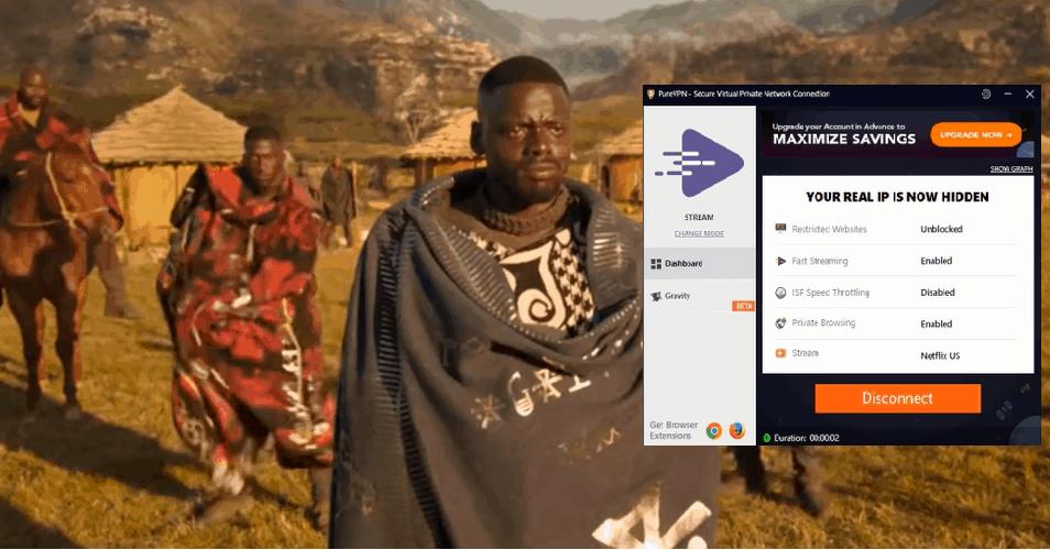 Change Netflix region with PureVPN