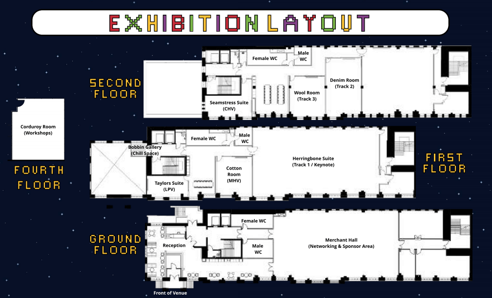 Bsides Leeds Exhibition Layout