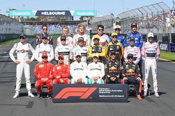 Formula1 drivers 2018