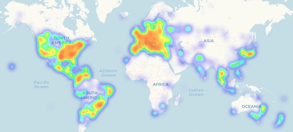 Crypto Acceptance Map