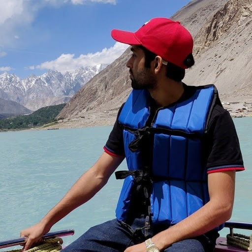 adil advani purevpn employee at attabad lake, hunza