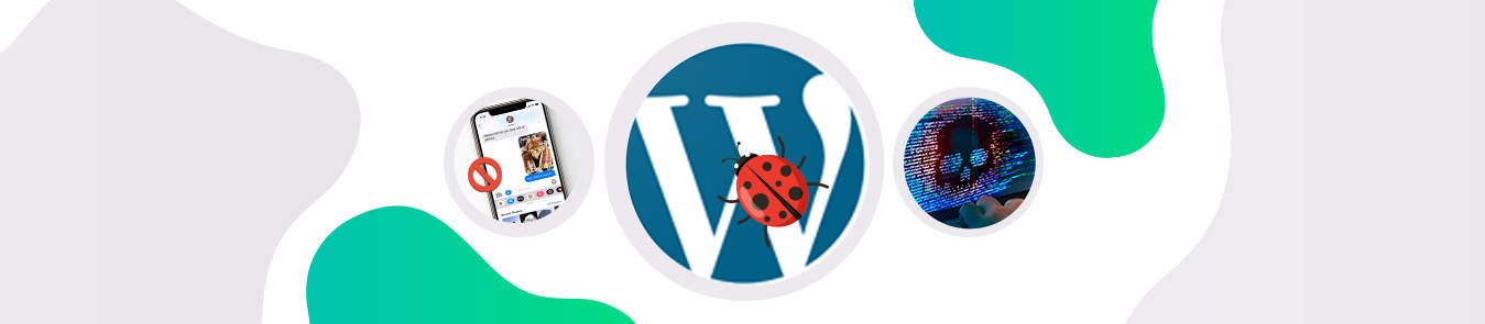 a picture of wordpress logo and smartphone