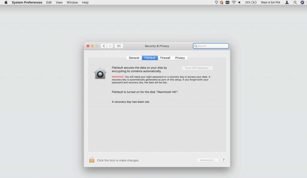 Encrypt Mac Data