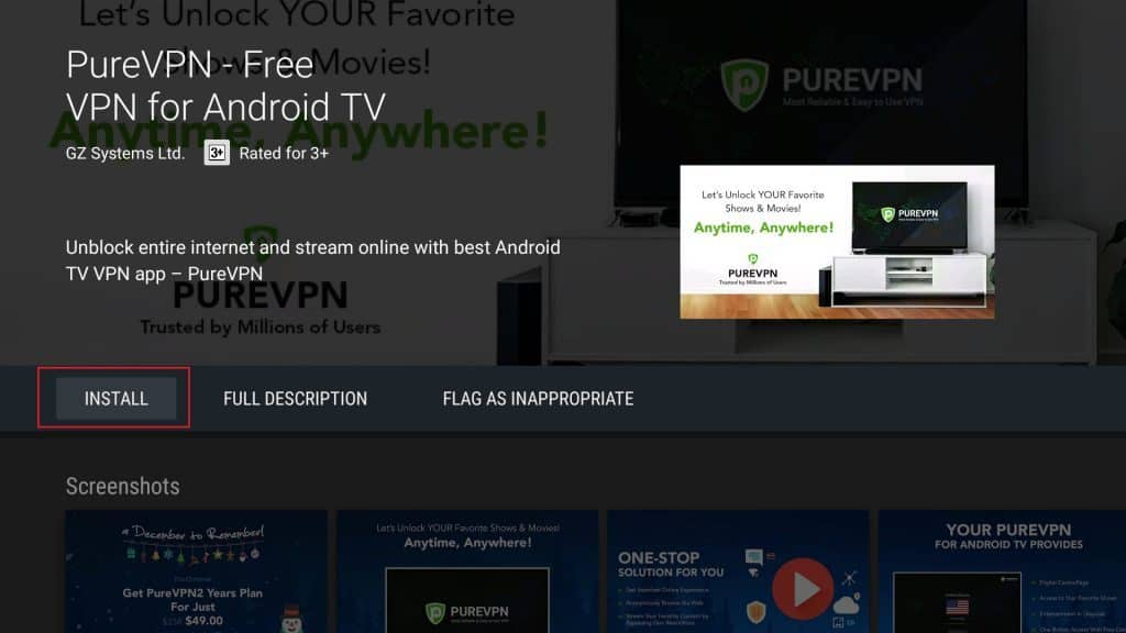 Download and install the PureVPN app
