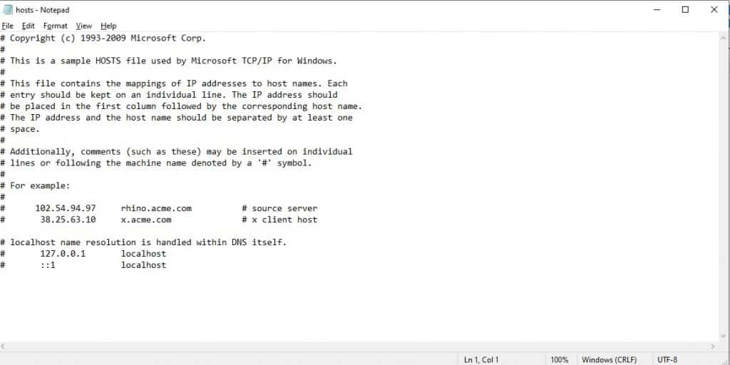 Open-the-host-file-via-Notepad