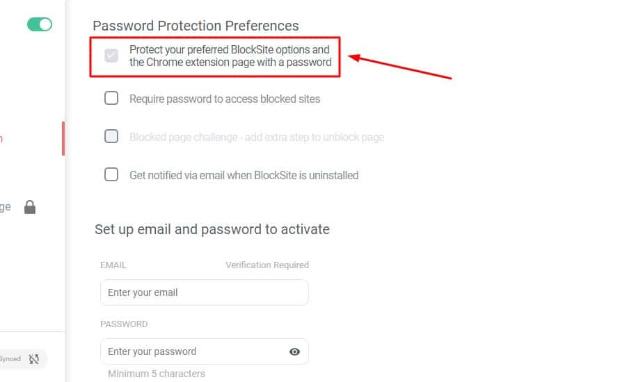 Click-the-first-option-Protect-your-preferred-BlockSite-and-the-Chrome-extension-page-with-a-password