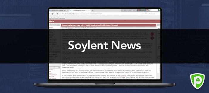 Darkweb website - Soylent NEWS