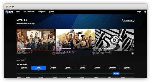 Watch live sports on TVNZ On Demand