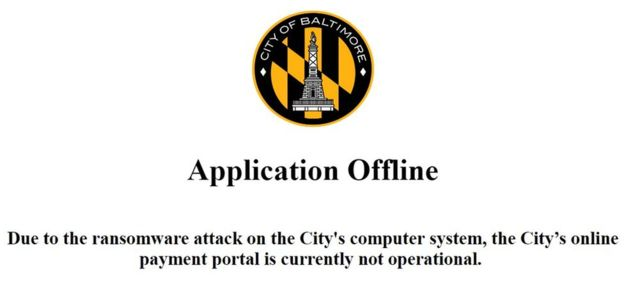 Baltimore ransomware attack