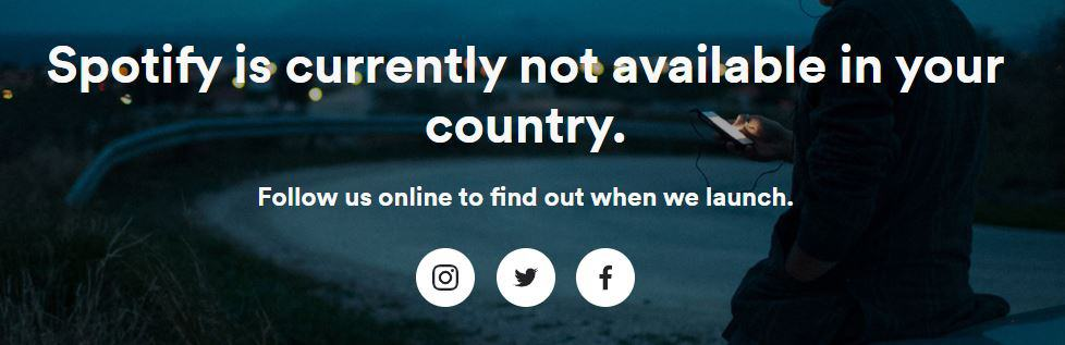 access spotify and other not available websites in your country