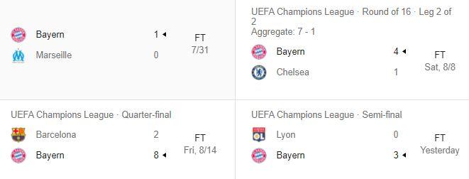 bayern munich uefa champions league fixtures 2020