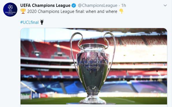 uefa champions league final 2020 trophy