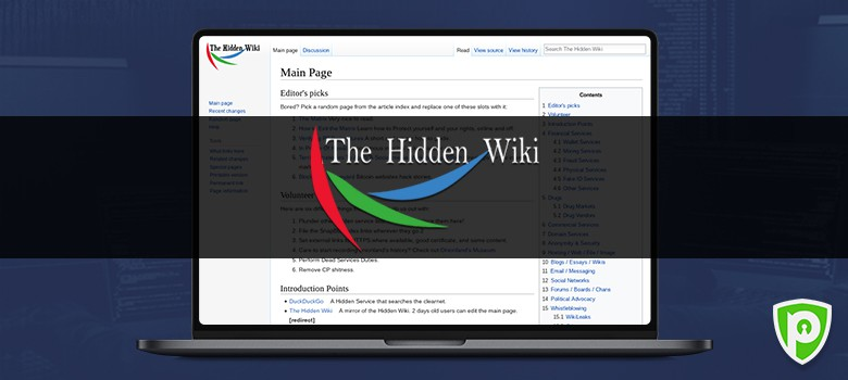 Darkweb website - Hidden Wiki