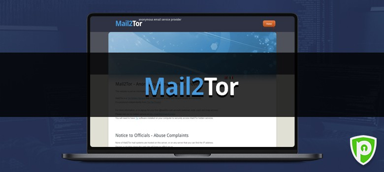 Darkweb website - Mail2Tor