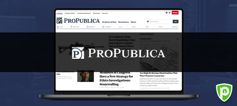Darkweb website - ProRepublica