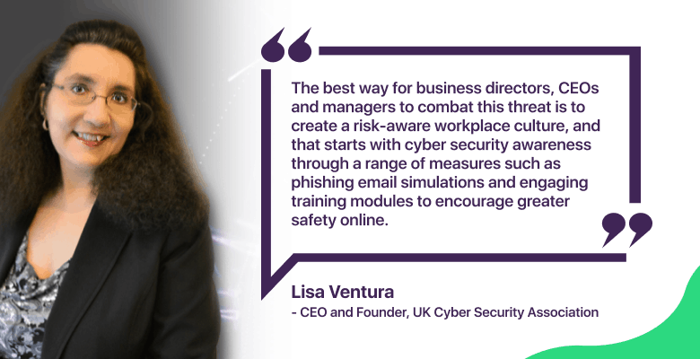 Lisa Ventura discussing employees' cybersecurity awareness with PureVPN