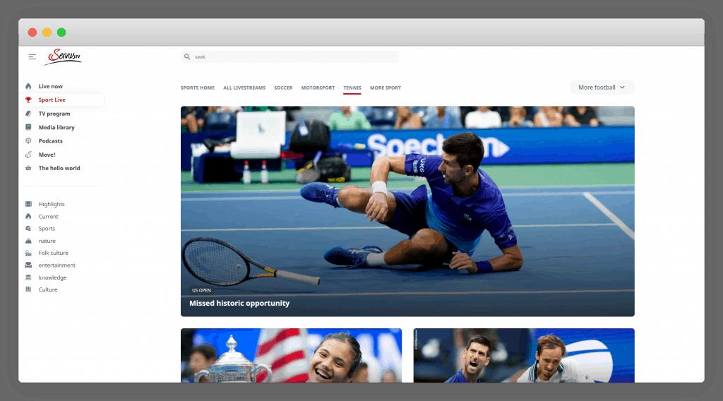 Servus TV Live Tennis