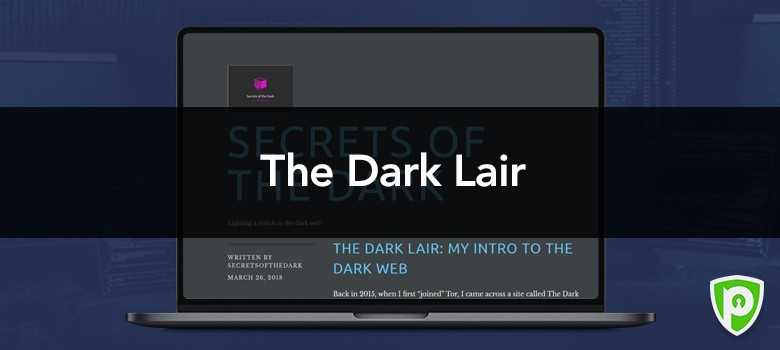 Darkweb website - The Dark Lair