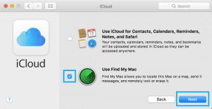 use find my mac option